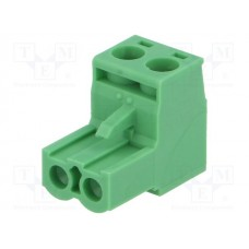 CS 2P Euroblock connector 2.5mm2 groen 12A
