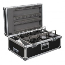 Showtec Set 6x Eventspot 60 Q7 - Zwart + case+ IR-afstandsbediening - 42726S