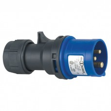 ABL CEE Form 16A 3 Pin Cable Male - Blauwe behuizing - 90301