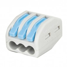Showgear Cable Terminal - 3 Way - Blue / Grey - 94012
