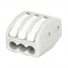 Showgear Cable Terminal - 3 Way - Grey / White - 94013
