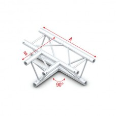 Milos 90° 3-way horizontal - T-kruis horizontaal 3 richtingen - FT30017