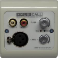 Dateq Musicall MRA2-WW Wand module Dubbele mono audio input Mic/ line Wit