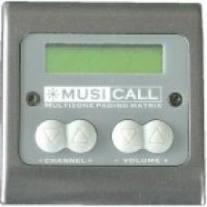 Dateq Musicall MRC4L-GG Wand module remote paneel met LCD display Grijs