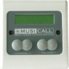 Dateq Musicall MRC4L-WG Wand module remote paneel met LCD display Wit / Grijs