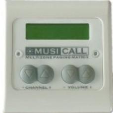 Dateq Musicall MRC4L-WW Wand module remote paneel met LCD display Wit