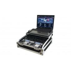 """Prodjuser DM 19 Laptop flightcase voor 19"""" mixer 10U met laptop plateau"""