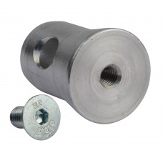 Contest 1/2 MANCH-M8  - 1/2 conical coupler and M8 screw for tube of 50mm