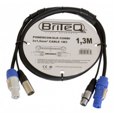 Briteq POWERCON/XLR COMBI 3x1,5mm² CABLE  1M3