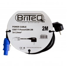 HILEC POWER CABLE CEE7/7-PowerCON 2M