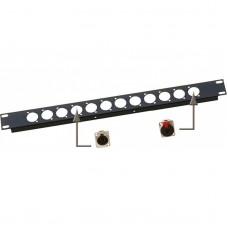 JV CASE RP 1U/XLR - Rackpanel XLR (D-size)