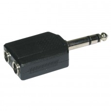 Audiophony ADAPT850  - 2 Female Jack 6.35  / 1 Male Jack 6.35 adapter