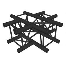 Contest AGQUA-06 blk  - Quatro angle - 90° -  4 directions - Black finishing