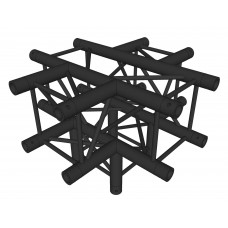 Contest AGQUA-07 blk  - Quatro angle - 90° - 5 directions - Black finishing