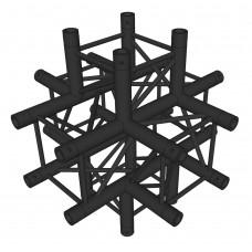 Contest AGQUA-08 blk  - Quatro angle - 90° - 6 directions - Black finishing