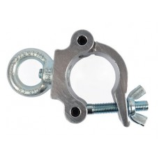 Contest ALUCLAMP301-Eye  - Fixing clamp for 50mm tube MWL 300kg ring- Silver