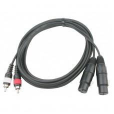 Audiophony CL-25/3  - 2x4mm 2 x Female XLR / 2 x Male RCA - 3 m