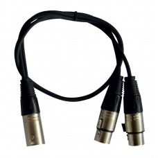 Audiophony CL-29/0.6  - 1 Male XLR cable / 2 x Female XLR - 0,6m