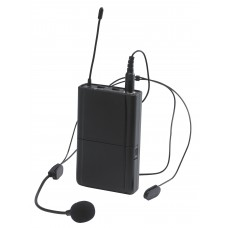 Audiophony CR-12AHEADset  - Optional UHF bodypack transmitter and headband microphone.