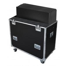 Contestage FLY6PLTL1 Flightcase voor 6x PLTL-1x1 met poten