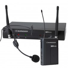 Audiophony Pack GOHead  - 1 GO Mono receiver - 1 GO Body bodypack transmitter - 1 headband GO Head microphone