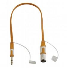 Audiophony CFLAT-JSXM/1.5  - Male 6.35 TRS Jack / Male XLR flat cord - 1.5m