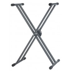 Hilec KB4 - Keyboard stand with double crossbars - Magnesium series