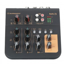 Audiophony Mi3  - 3 channels mixer 2 Microphones and 1 stereo