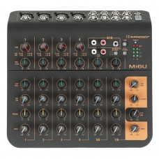 Audiophony Mi6U  - 6 channels mixer 4 Microphones, 2 stereo, 1 aux and USB port