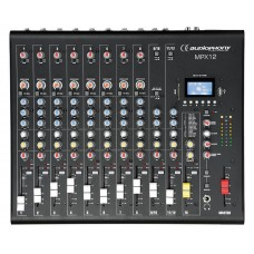 Audiophony MPX12  - 12 channels Mixer with Compressor, Effects and USB/ SD/BT Player
