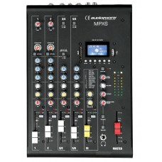 Audiophony MPX6  - 6 channels Mixer with Compressor, Effects and USB/ SD/BT Player