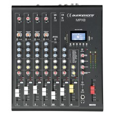 Audiophony MPX8  - 8 channels Mixer with Compressor, Effects and USB/ SD/BT Player