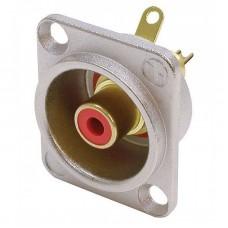 Neutrik NF2D2  - D-type red RCA socket