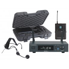 Audiophony PACK-UHF410-Head-F5  - Set including a UHF True Diversity receiver with a bodypack, a headband microphone in their transport case - 500MHz