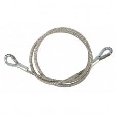 Contestage SC700  - Safety cable Veiligheidskabel Ø8mm L150cm 2 ringen MWL 700Kg - Zilver