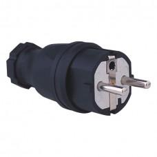 Audiophony FIC/SCHU/MAL  - IP44 schuko male rubber plug