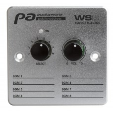 Audiophony WS8  - Wall controller + source selector for matrix