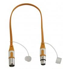 Audiophony CFLAT-XMXF/0.5  - XLR male / XLR female flat cord - 0.5m